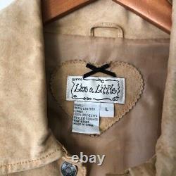 Vintage Genuine Leather Fringe Western Jacket