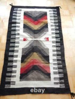 Vintage Large Teec Nos Pos / Red Mesa Navajo Indian Rug Weaving Xlnt