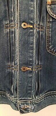 Vintage Lee Sanforized Kansas Cowboy 60s 70s Left Hand Denim Jacket Outstanding