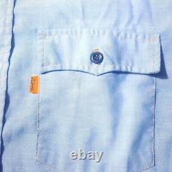 Vintage Levis Orange Tab Mens Large Shirt Blue Denim Western Chambray