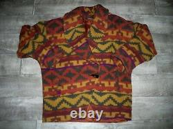 Vintage Made in USA Southwestern Aztec Western Wool Coat Jacket Women's Large