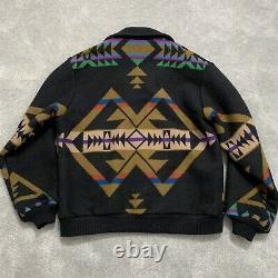 Vintage Pendleton High Grade Western Wear Made In Usa Tribal Aztec Wool Coat
