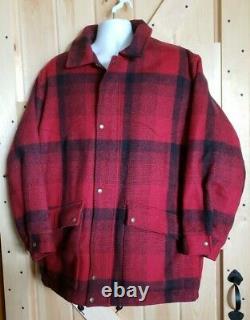 Vintage Pendleton Highgrade Western Wear Red/Blk Plaid Jacket Hunting Coat Large