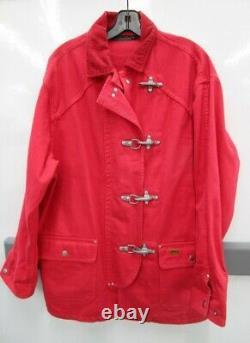 Vintage Polo Country Ralph Lauren Jacket Denim Fireman Red Western