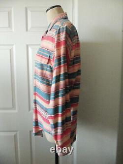 Vintage Ralph Lauren Country Multicolor Stripe 100% Cotton Long Sleeve Shirt L