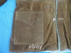 Vintage Rancher Authentic Western Styling Schott NYC RARE Sherpa Leather Coat