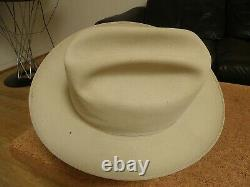 Vintage STETSON Open ROAD Fedora TEXAS Cowboy Hat! LARGE! 7 1/4- AS-IS! Buy NOW