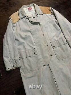 Vintage The Australian Outback Collection Brown Duster Western Coat Mens Large