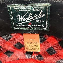 Vintage Woolrich Outback Hat Mens Black Wool Size Large Leather Band 100% Wool