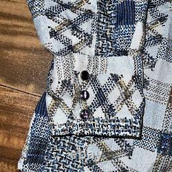 Vtg 60s/70s Wrangler Western Pearl Snap Shirt Single Needle Tailoring Long Tails