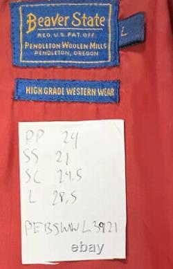 Vtg Pendleton Beaver State High Grade Western Wear Southwest Print Large