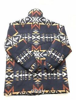 Vtg Pendleton High Grade Western Wear Wool Mens Coat Jacket USA Aztec RARE Sz L