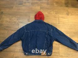 Vtg Ralph Lauren Denim Polo Country Denim Hoodie Sweater Trucker Jacket USA Made