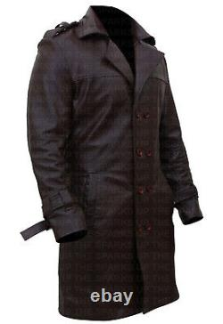 Watchmen Rorschach Stylish Jackie Earle Haley Leather Overcoat Trench Coat