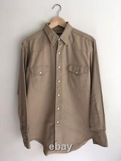 Wrangler Vintage Western Cowboy Button Up Size Large Made In USA